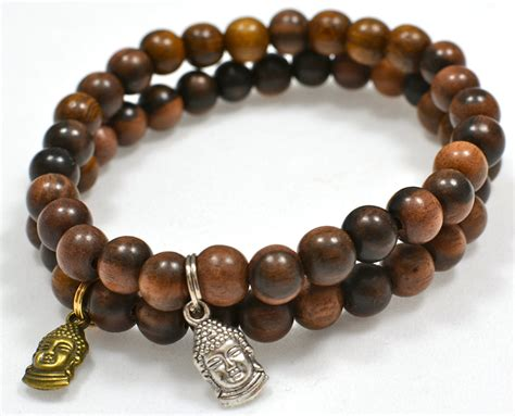 bead bracelet s beaded bracelet with brown tiger kamagong wood
