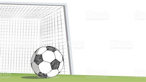 doodle bola co de futebol gol bola de futebol desenho em estilo