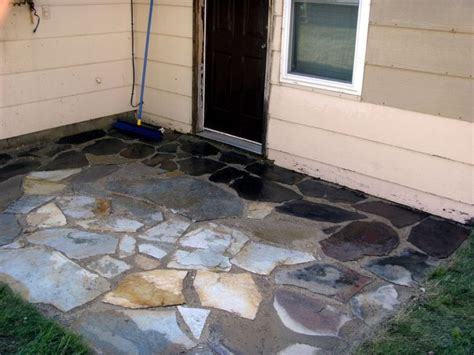 how to install or lay flagstone pavers building a