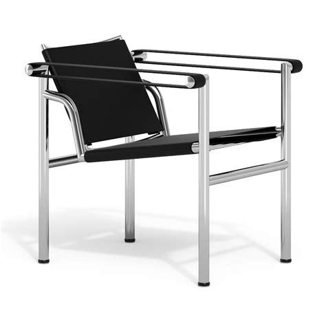 poltrona lc1 armchair le corbusier lc1 basculante black