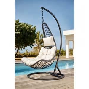 ou acheter fauteuil de jardin suspendu noir transat