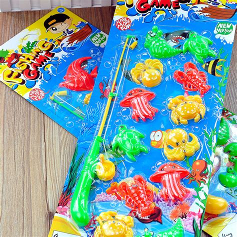 New Happy Birthday Fishing Toys No 20117 Mainan Pancingan Ikan colorful fish promotion shop for promotional colorful