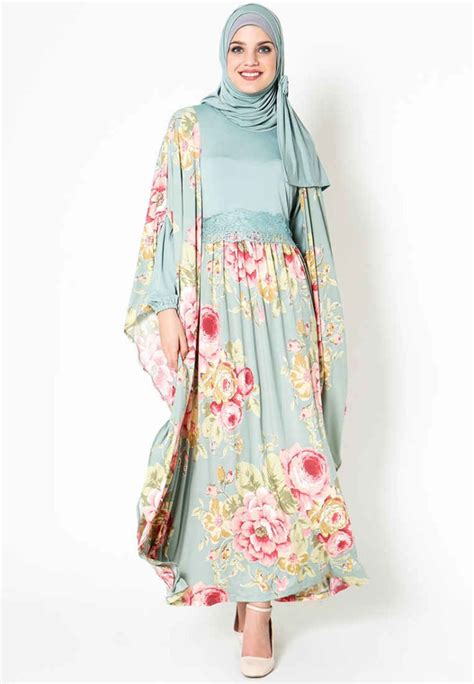 Gamis Modern Model Baju Pesta Brokat Hairstylegalleries