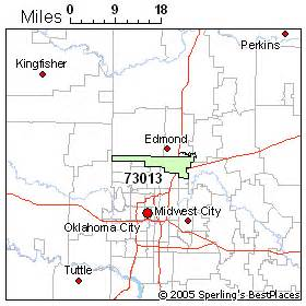 Edmond Zip Code Map by Best Place To Live In Edmond Zip 73013 Oklahoma