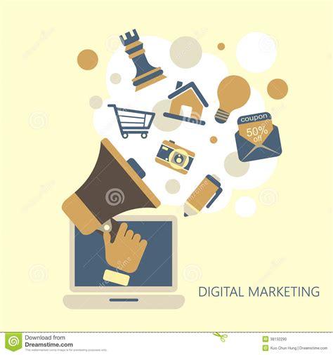 flat design digital marketing concept stock photo image