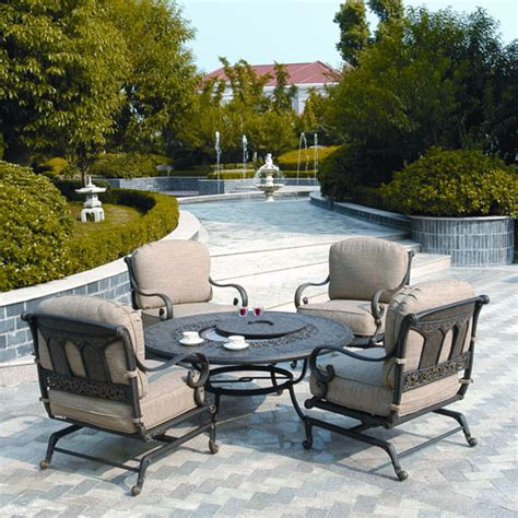 firepit patio sets st moritz seating pit set by hanamint family