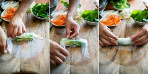 How To Fold Rice Paper Rolls - fresh veggie rolls with peanut sauce tomato boots