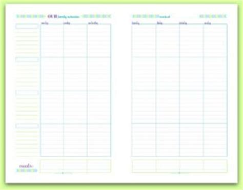 printable monthly family planner personal planner free printables