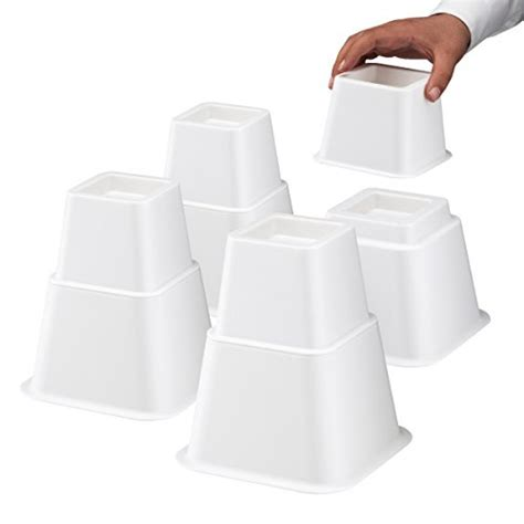 white bed risers white bed risers furniture heavy duty table lifts storage