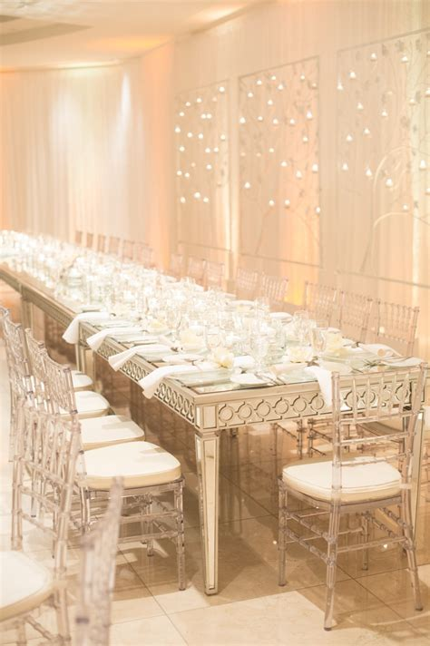 Mirror Table Decor by Reception D 233 Cor Photos All White D 233 Cor On Mirrored Table