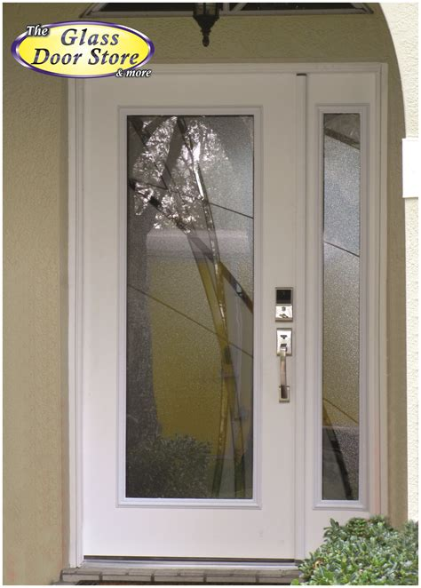 doors with glass inserts glass front door privacy