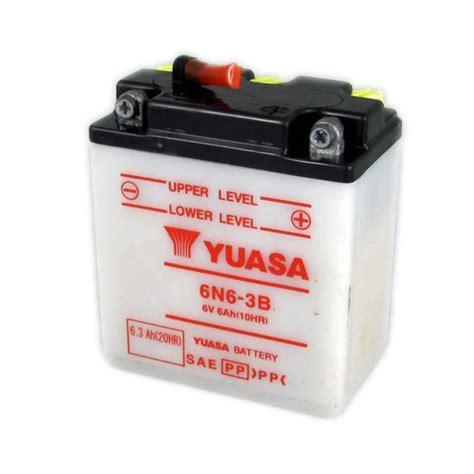 Motorrad Batterie 6v by Yuasa Motorcycle Battery 6n6 3b 6v 6ah From County Battery
