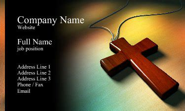 Religious Business Cards Templates Free by Christian Business Card Designs 15 Sles To Inspire