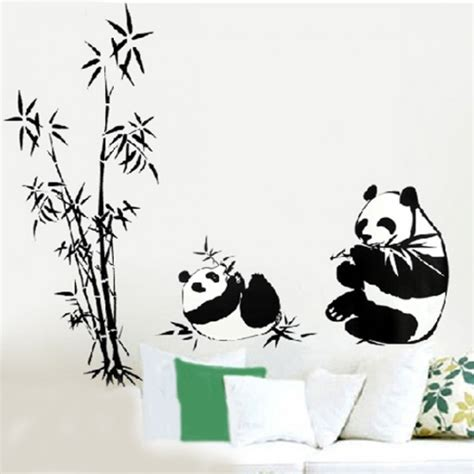 Baby Animals Sk9104 Stiker Dinding Wall Sticker panda and bamboo wall sticker
