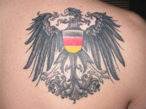 german flag tattoo german eagle on back