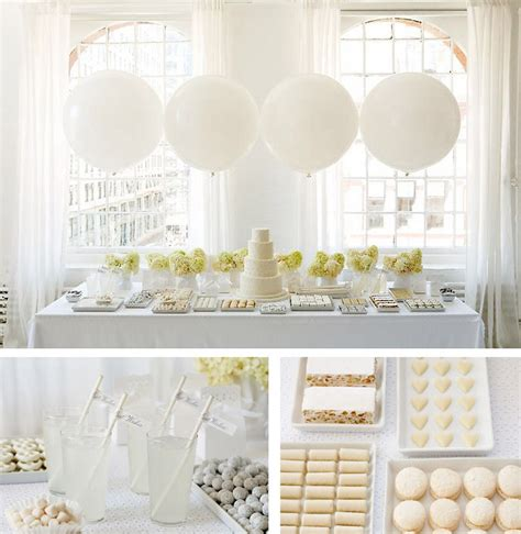 White Ideas by All White Baby Shower Ideas Baby Ideas