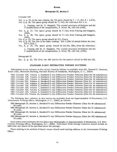 standard x ray diffraction powder patterns section 5 standard x ray diffraction powder patterns section 5