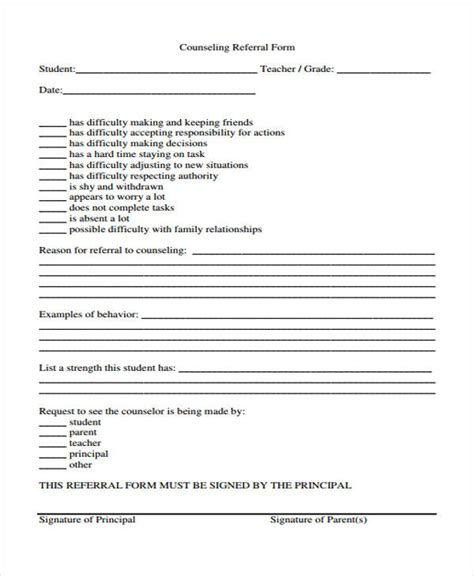 counselling referral form template counseling referral form template pictures to pin on