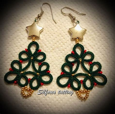 christmas tree earring pattern 17 best images about diy tatting on pinterest free