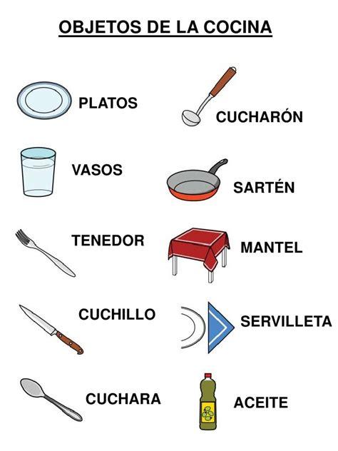 vocabulario ingles cocina vocabulario