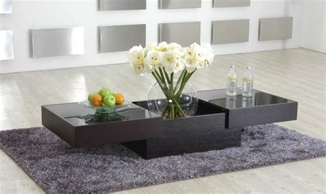 modern and contemporary design tables contemporary coffee table with storage and glass top new