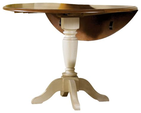 42 Inch Drop Leaf Pedestal Table by Liberty Furniture Low Country Sand 42 Inch Drop Leaf