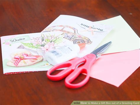 How To Make A Box Out Of Card Template by How To Make A Gift Box Out Of A Greeting Card With Pictures