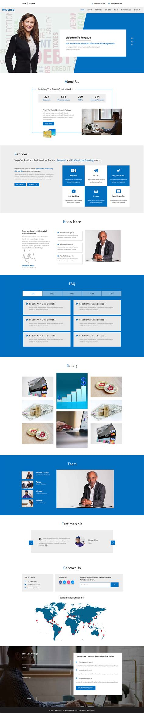 bootstrap responsive layout template revenue banking category bootstrap responsive web template