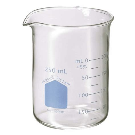 Breaker Glass 250 Ml Pyrex Vista Griffin Style Beakers 250 Ml 12 Pk From Cole