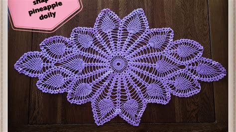 crochet pattern diamond shape how to crochet diamond shape pineapple doily part 1 of 2