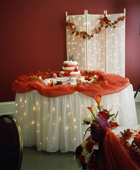 fall wedding cake table wedding decor ideas