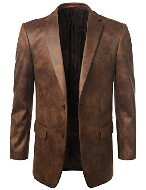 leather sport coat mondaysuit mens leather look sport coat blazer jacket big avail leather buys