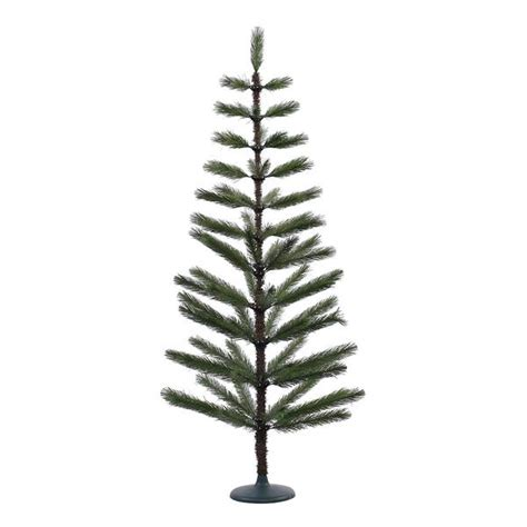 vickerman 379165 5 x 24 quot green feather christmas tree