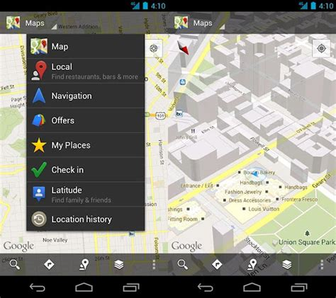 android map updates maps for android