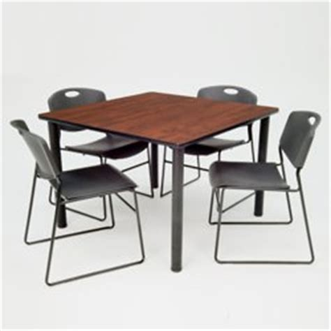 square breakroom table and chair set 36 41684 and more