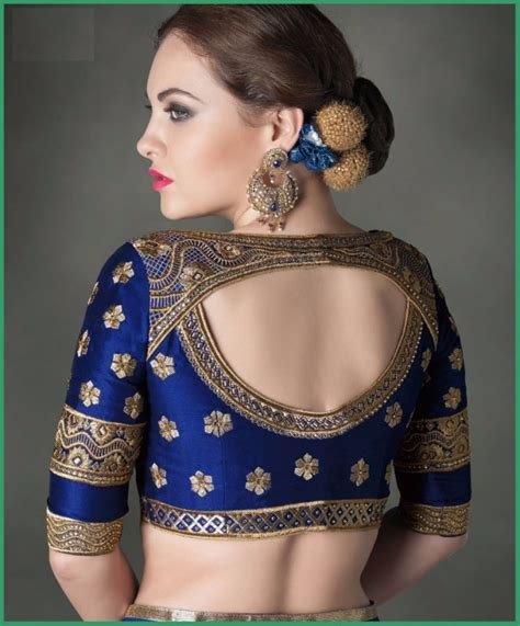 Blouse Designs Catalogue 2016 by Sarees Blouse Back Neck Designs With Borders For 2016