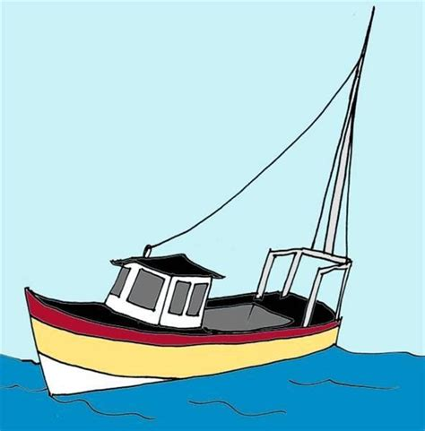 dibujar barcos que significa c 243 mo dibujar un barco de pesca usroasterie