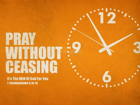 Pray Without Ceasing Sermon Powerpoint Template Pray Without Ceasing Sermon Powerpoint Template