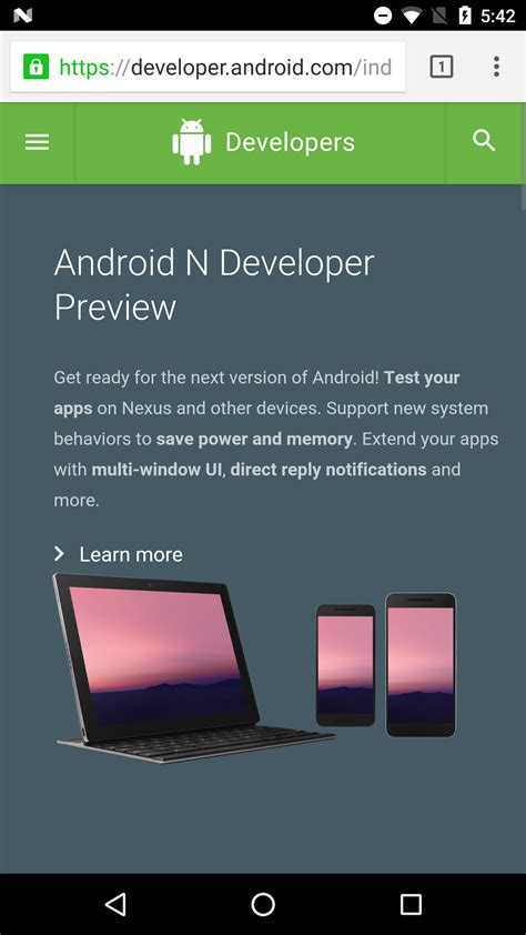 android documentation android developer site slightly redesigned with navigation