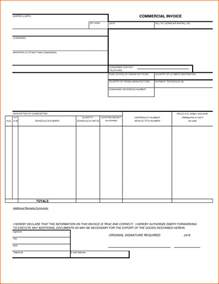 Free Custom Invoice Template by Customs Commercial Invoice Template 5 Media Templates