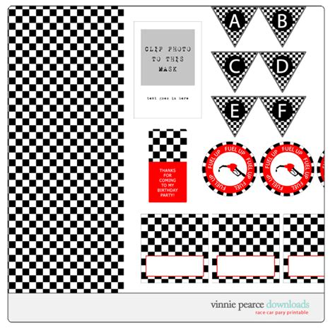 printable cars birthday decorations free printable race car party for tom parties