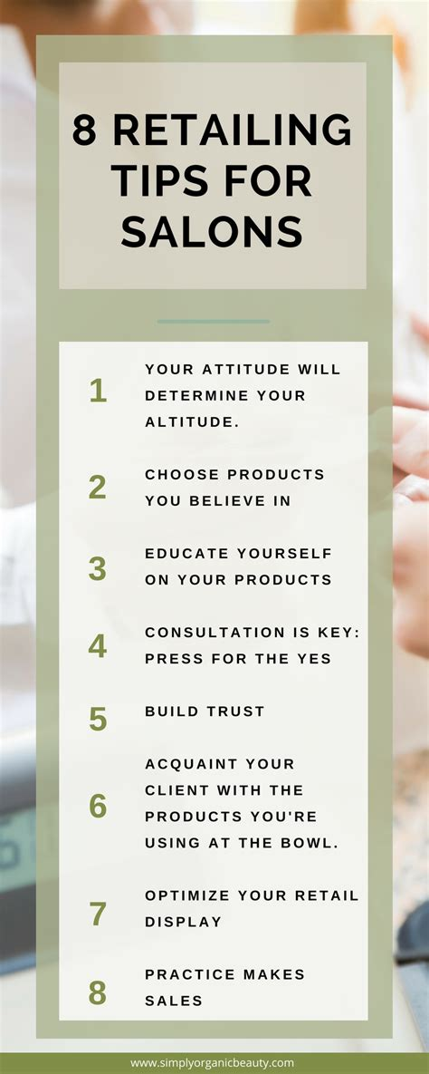 8 Tips For by 8 Quot Tried And True Quot Retail Tips For Salons Simply Organic
