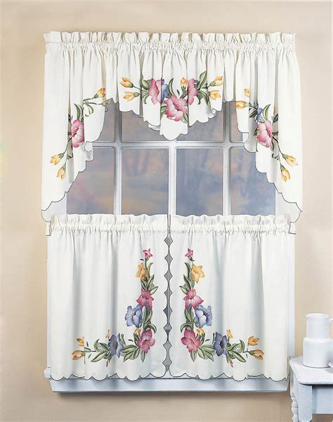 tier curtain sets lily 5 piece kitchen curtain tier set curtainworks com