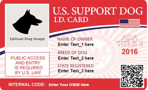 service animal id card template service registry document center osdr document center