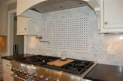 marble basket weave backsplash for the home