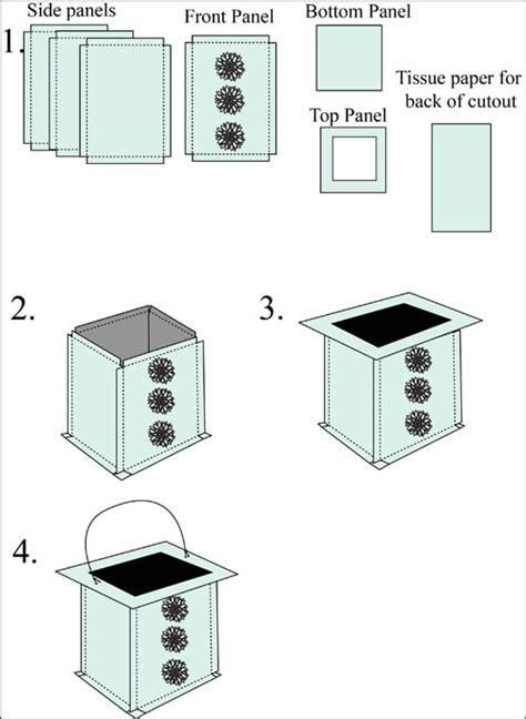 Papercraft Lantern - square paper lantern luminary craft easy paper crafts