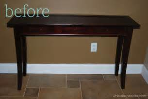 Entry Way Table by While They Snooze Entry Table Makeover