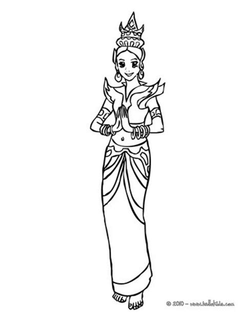 thai princess coloring pages hellokids com