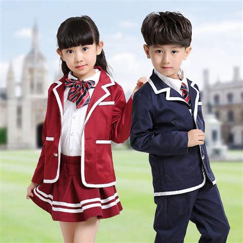 Korean Student Costume Setelan Anak children navy blue student korean japanese school uniforms for boys blazer jacket