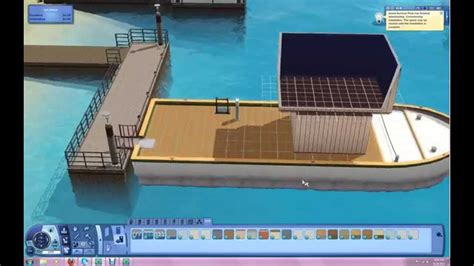 building a house boat building a house boat in island paradise sims3 youtube